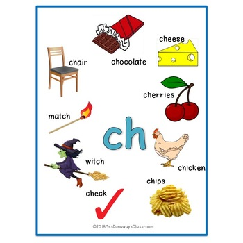 CLIP CARDS: CONSONANT DIGRAPHS CH, SH, WH, TH