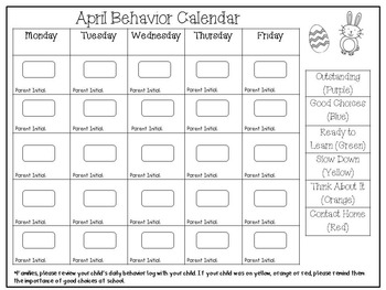 CLIP CHART {Behavior Management}