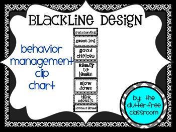 CLIP CHART Behavior Management System, EDITABLE {Blackline Design}