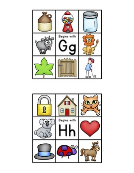 CLIP IT-Beginning Sounds (Part of Beginning Sounds and Letters Bundle)