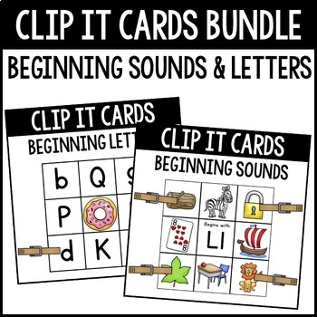 CLIP IT-Beginning Sounds and Letters Bundle