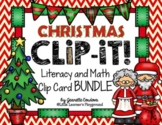 CLIP-IT!  Christmas Edition - Math and Literacy Clip Cards