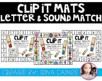 CLIP IT MATS: Letter Recognition and Letter Sounds