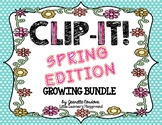 CLIP-IT! Spring Edition - Math and Literacy Clip Cards