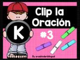 CLIP LA ORACIÓN #3 KINDERGARTEN