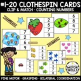 CLIP and MATCH - Clothespin Cards - #1-10 Counting Numbers