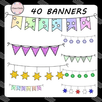CLIPART: 40 banners