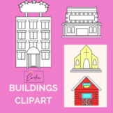 CLIPART BUILDINGS, MY TOWN