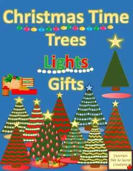 CLIPART CHRISTMAS Trees - Lights - Presents - and More PNG