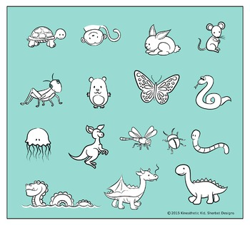 CLIPART: Critters - 300dpi PNGs in 3 formats!