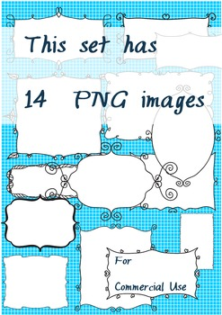 CLIPART FRAMES - 14 style