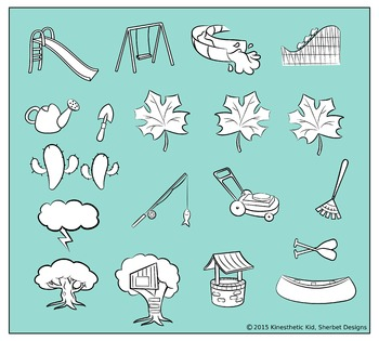 CLIPART: Go Outside! - 300dpi PNGs in 3 formats!