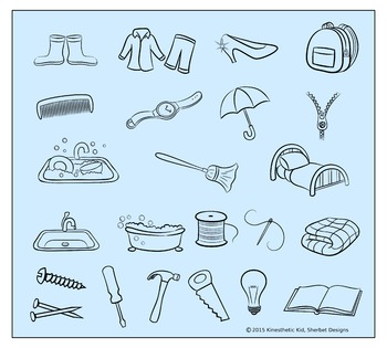 CLIPART: Items at Home - 300dpi PNGs in 3 formats!