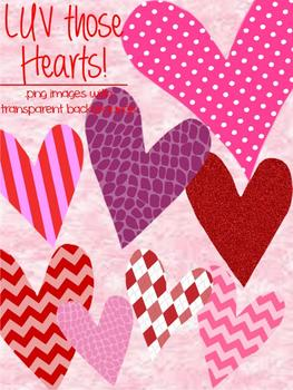 CLIPART - LUV those Hearts! - Personal and Commercial use