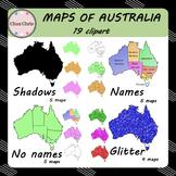 CLIPART: Maps of Australia