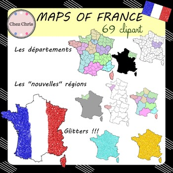 Clip Art - Maps of France