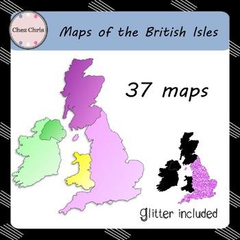 Clip Art -  Maps of the British Isles