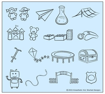 CLIPART: Play Time! - 300dpi PNGs of toys in 3 formats!