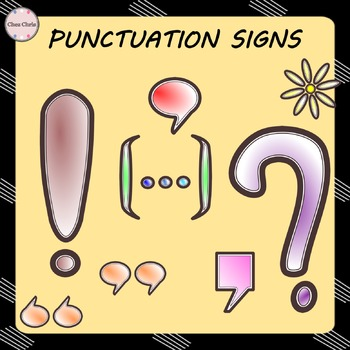 CLIPART: Punctuation marks - FREE