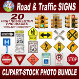 CLIPART STOCK PHOTOS - Road & Traffic SIGNS - Photographs