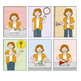 CLIPART Set of Teacher giving lessons x 16