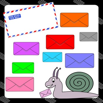 CLIPART: Snail Mail - Letter boxes, letter bags, envelopes...