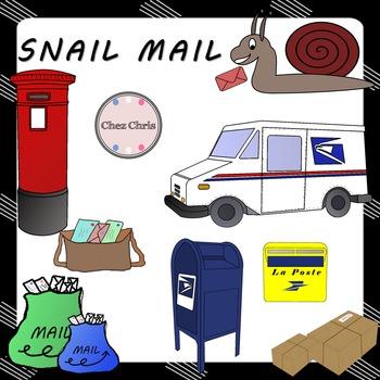 CLIPART: Snail Mail - Letter boxes, letter bags, envelopes...