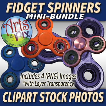 "CLIPART Stock Photos - ""Fidget Spinners"" Mini-Bundle - Clipart - Photographs"