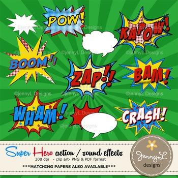 Superhero Sound Effects Clipart