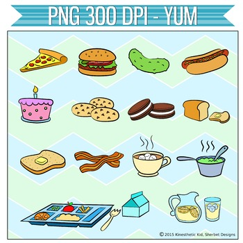CLIPART: Yum! - 300dpi Food PNGs in 3 formats!
