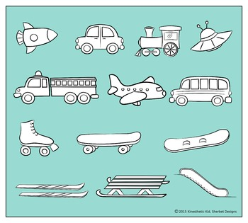 CLIPART: Zoom! 300dpi PNGs of planes, trains, cars and more in 3 formats!