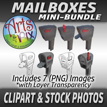 "CLIPART and Stock Photos ""Mailboxes"" Bundle - Clipart - Photographs - Mailbox"