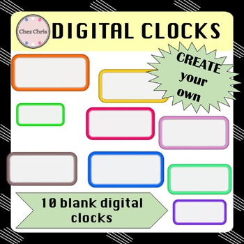 CLIPARTS: 154 digital clocks