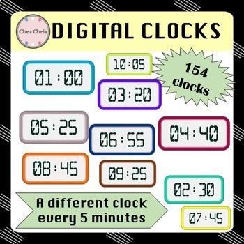CLIPARTS BUNDLE: 298 clocks and digital clocks