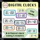 Cliparts BUNDLE - 298 Clocks and Digital Clocks
