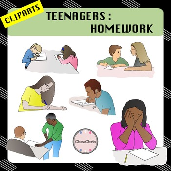 CLIPART: Teenagers - Homework