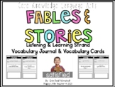 CLKA 1st Grade Listening and Learning Domain 1 Vocabulary Journal