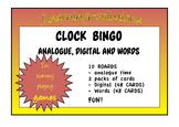CLOCK BINGO - Hour, Half Hour, Quarter To, Quarter Past - Analogue/Digital/Oral
