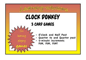 CLOCK DONKEY - 3 Card Games