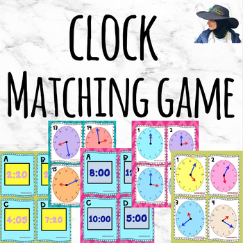 Clock Task cards- Matching game
