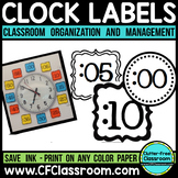 CLOCK LABELS | Telling Time to the Minute | Telling Time Clock Labels
