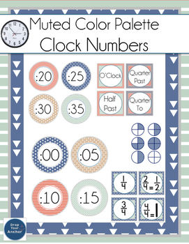 CLOCK LABELS with fractions