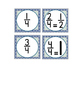 CLOCK NUMBERS with Fractions & Bonus Direction Signs - Mut