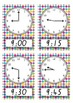 CLOCKS Teaching time to the hour, half hour, quarter hour posters or flashcards