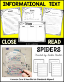 Close Read-Informational Text: Spiders