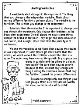 Experimental Design: Limiting Variables