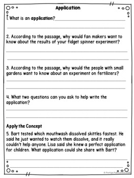 Experimental Design: Application