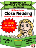 CLOSE READING Differentiated Science Passages: scientists