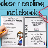 CLOSE READING Interactive Notebook for Reading Comprehension