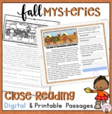 FALL CLOSE READING PASSAGES | DIGITAL FALL ACTIVITIES | Pr